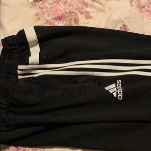 Long black adidas joggers